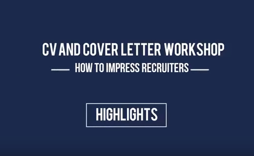 C3S's Workshop: CV and Cover Letter