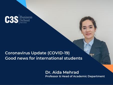 Coronavirus Update (COVID-19)- Good news for international students