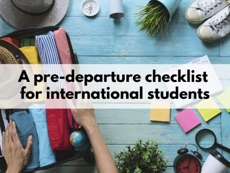 A pre-departure checklist for international students